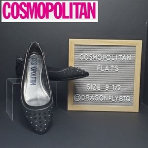 LNC Cosmopolitan Spiked Toe Ladies Flats sz9½